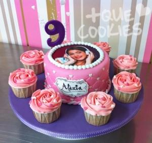 Cake+cupcakes Violetta