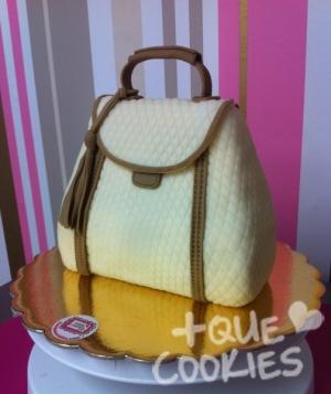 Taller pastís en forma de bolso